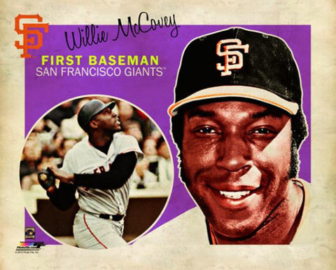 "Willie McCovey ""Retro SuperCard"" San Francisco Giants Premium Poster Print - Photofile 16x20"