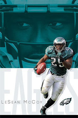"LeSean McCoy ""Blazing Eagle"" Philadelphia Eagles RB Official NFL Poster - Costacos 2014"