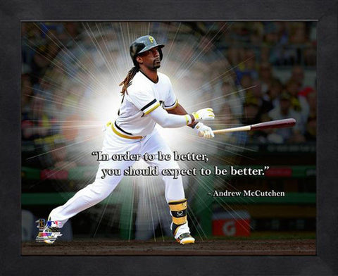 "Pittsburgh Quotes Prepossessing Andrew Mccutchen ""expect To Be Better"" Pittsburgh Pirates Framed"