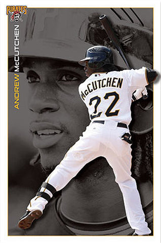 "Andrew McCutchen ""Superstar"" Pittsburgh Pirates Poster - Costacos Sports"