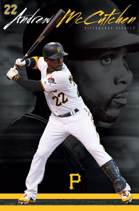 "Andrew McCutchen ""Legendary Buc"" Pittsburgh Pirates MLB Baseball Action Poster - Trends 2016"