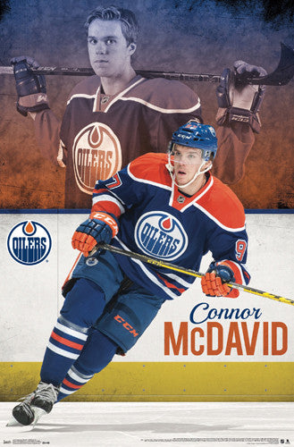 "Connor McDavid ""Superstar"" Edmonton Oilers Rookie-Year Poster - Trends International 2015"