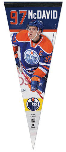 "Connor McDavid ""Superstar Series"" Edmonton Oilers Premium Felt Collector's Pennant - Wincraft Inc."