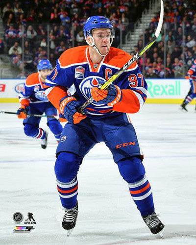 "Connor McDavid ""Captain Action"" Edmonton Oilers Premium Poster Print - Photofile 16x20"