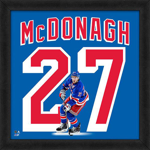 "Ryan McDonagh ""Number 27"" New York Rangers FRAMED 20x20 UNIFRAME PRINT - Photofile"