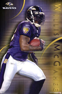 "Willis McGahee ""Purple Power"" Baltimore Ravens Poster - Costacos 2007"