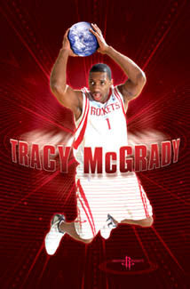 "Tracy McGrady ""All-World"" Houston Rockets Poster - Costacos 2004"