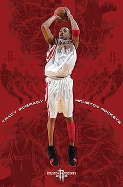 "Tracy McGrady ""Red Rocket"" Houston Rockets Poster - Costacos 2006"