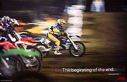 "Jeremy McGrath ""Beginning of the End"" Supercross Motocross Poster - No Fear 1998"