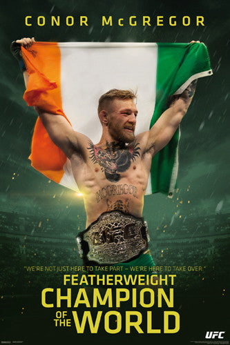 Conor McGregor UFC Champion of the World Commemorative Poster - Pyramid 2016