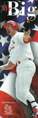 "Mark McGwire ""Mr. Big"" St. Louis Cardinals HUGE Door-Sized Poster - Costacos 1998"