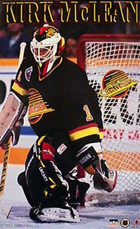 Kirk McLean Vancouver Canucks Goalie Classic NHL Action Poster - Starline 1993