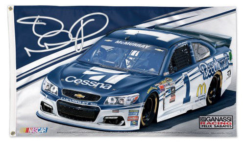 Jamie McMurray NASCAR #1 Cessna Chevrolet SS Huge 3' x 5' Deluxe Banner Flag - Wincraft 2016