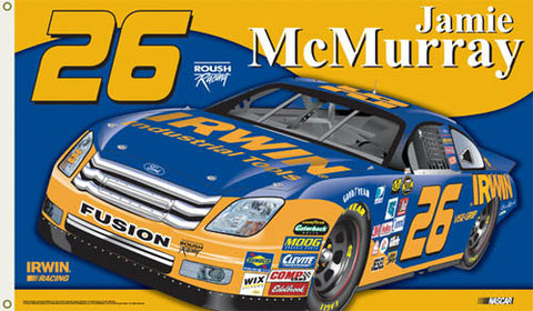 "Jamie McMurray ""McMurray Nation"" 3'x5' Flag - BSI Products"