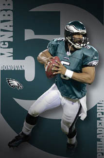 "Donovan McNabb ""Roll Out"" Philadelphia Eagles Poster - Costacos 2005"