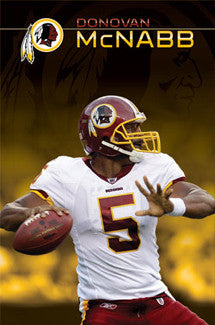 "Donovan McNabb ""Capital Cannon"" Washington Redskins Poster - Costacos 2010"