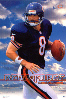 "Cade McNown ""Bear Force"" Chicago Bears QB Poster - Costacos 1999"