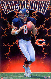 "Cade McNown ""Bear Storm"" Chicago Bears Poster - Starline Inc. 1999"