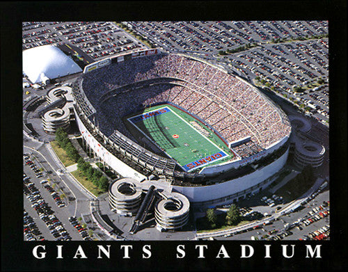 "New York Giants Giants Stadium ""Giants Gameday"" Premium Poster - Aerial Views Inc."