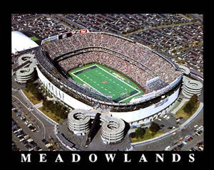 Meadowlands Stadium New York Jets Gameday Aerial Panoramic Poster - Aerial Views Inc.