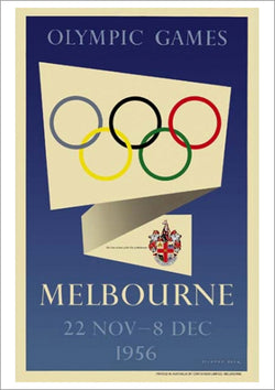 Melbourne 1956 Summer Olympic Games Official Poster Reprint - Olympic Museum