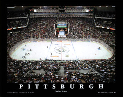 Pittsburgh Penguins Mellon Arena Game Night Poster Print - Aerial Views 2002