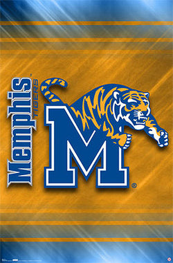 University of Memphis Tigers Official NCAA Team Logo Poster - Costacos Sports