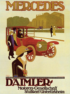 Mercedes 1914 Vintage Ad Poster Reprint - Eurographics