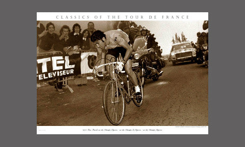 CYCLING ART PRINT 1975 Tour Finish on the Champs Elysees Sports Pressee