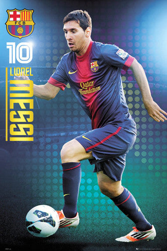 "Lionel Messi ""Super #10"" Barcelona Soccer Action Poster - GB Eye 2012/13"