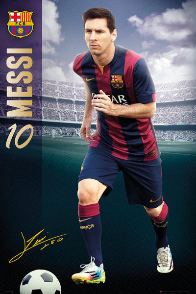 "Lionel Messi ""The Man"" FC Barcelona Official La Liga Soccer Action Poster - GB Eye (UK)"