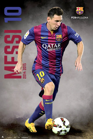 "Lionel Messi ""Breakout"" FC Barcelona Official La Liga Soccer Action Poster - G.E. (Spain)"