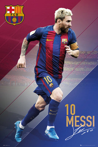 "Lionel Messi ""In Action"" FC Barcelona Signature Series Official Poster - GB Eye 2016/17"