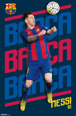 "Lionel Messi ""Barca Barca Barca"" FC Barcelona Official Poster - Trends 2017"