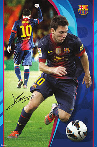 "Lionel Messi ""The Great One"" FC Barcelona Signature Series Official Poster - Trends 2014"