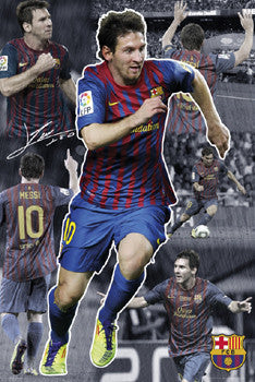 "Lionel Messi ""Sensation"" FC Barcelona Action Collage Soccer Poster - GB Eye"