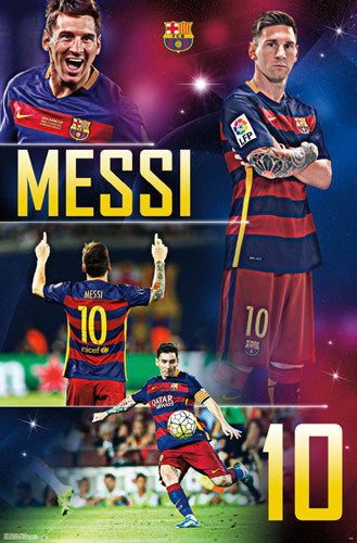 "Lionel Messi ""Barcelona Brilliant"" Official FCB Soccer Poster - Trends International"