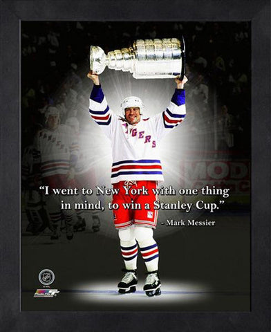 "Mark Messier ""I Went To Win"" New York Rangers FRAMED 16x20 PRO QUOTES PRINT - Photofile"