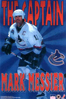 "Mark Messier ""The Captain"" Vancouver Canucks Poster - Starline Inc. 1997"