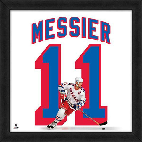 "Mark Messier ""Number 11"" New York Rangers NHL FRAMED 20x20 UNIFRAME PRINT - Photofile"