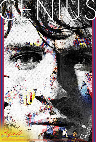 "Lionel Messi ""Genius"" FC Barcelona Legends Series Soccer Superstar Poster - Starz (#48)"