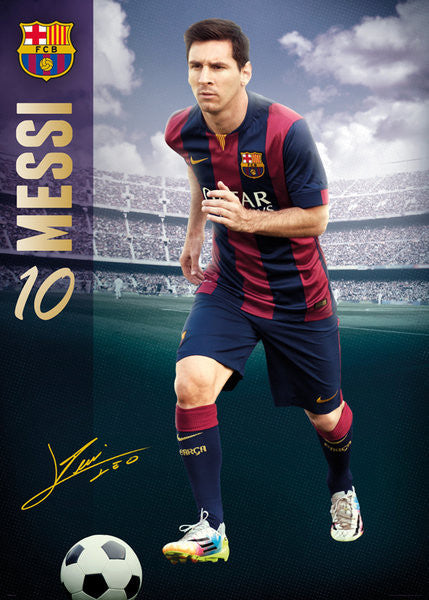 "MURAL-SIZED Lionel Messi ""The Man"" FC Barcelona La Liga Soccer Poster - GB Eye (UK)"