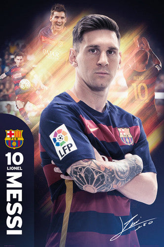 "Lionel Messi ""The One"" FC Barcelona Signature Series Official Poster - GB Eye 2015/16"