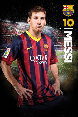 "Lionel Messi ""Storming Superstar"" FC Barcelona Official Poster - GB Eye 2014"