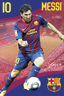 "Lionel Messi ""Signature Series"" FC Barcelona 2011/12 Poster - GB Eye"