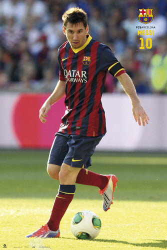 "Lionel Messi ""Sunshine"" FC Barcelona Official La Liga Soccer Action Poster - G.E. (Spain)"