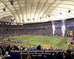 "Metrodome ""Home of the Vikings Since 1982"" - Photofile Inc."
