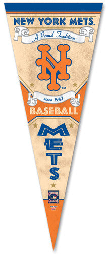"New York Mets ""Since 1962"" Cooperstown Collection Premium Pennant - Wincraft"