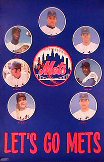 "New York Mets ""Lets Go"" 1969 Seven-Player Vintage Original Poster - Major League Posters"