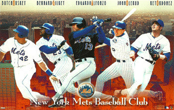 "New York Mets ""Superstars '98"" Poster (Olerud, Ordonez, Alfonzo, ++) - Costacos Sports"